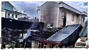آتش سوزی هولناک بامدادی در رشت