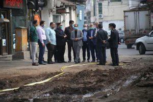 بازدید شهردار رشت از پروژه جمع آوری و هدایت آب های سطحی محله استاد سرا