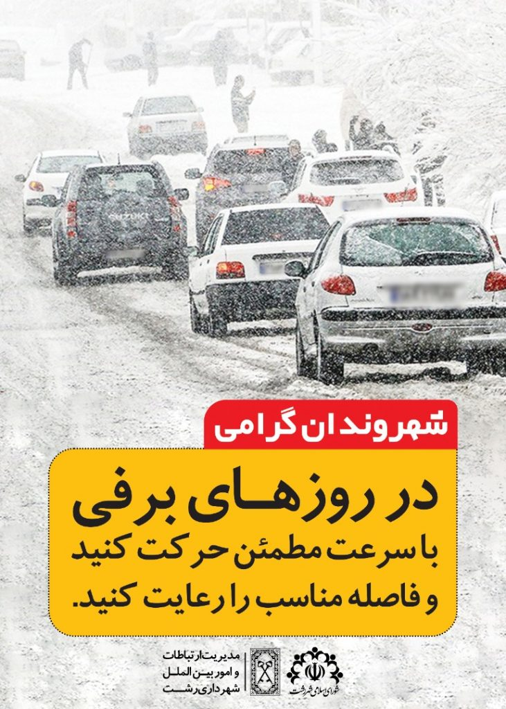 رانندگی در روزهای برفی