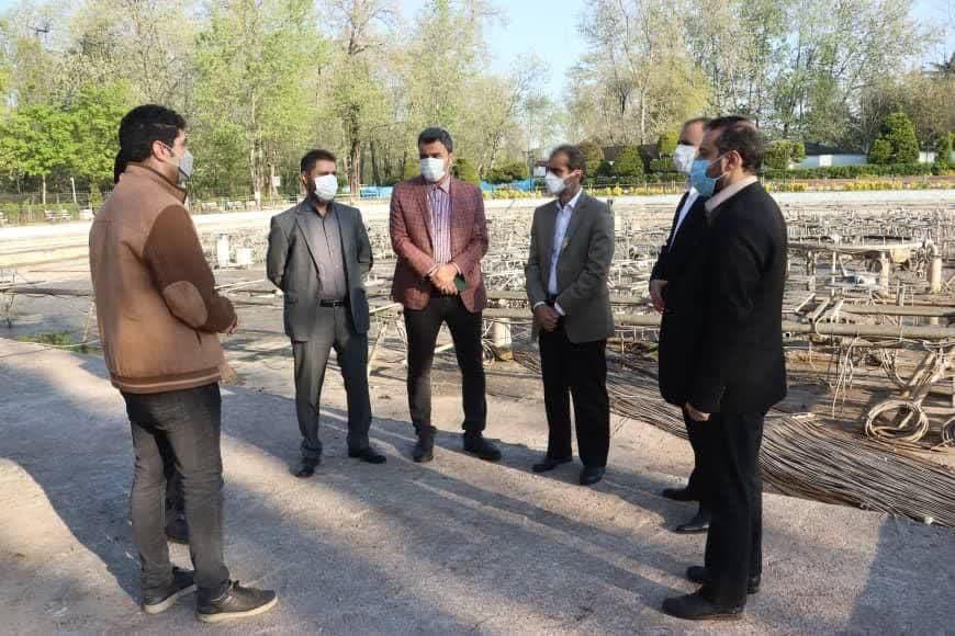 پروژه آبنمای موزیکال بوستان ملت