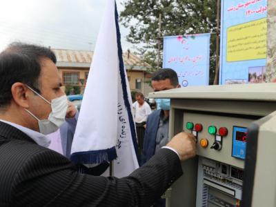 افتتاح همزمان ۳۳ پروژه آب و فاضلاب شهرستان رشت