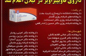 لیست داروخانه های توزیع کننده داروی فاویپیراویر در گیلان اعلام شد