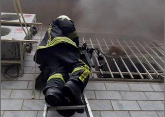 نجات شهروند محبوس در حادثه آتش سوزی صبح امروز رشت