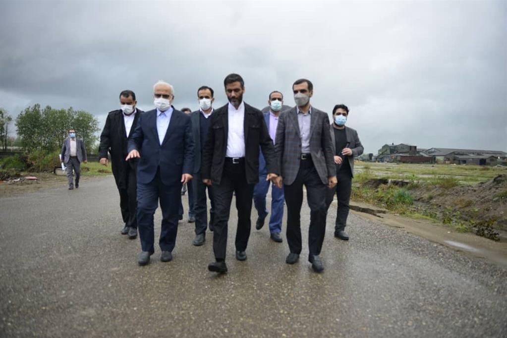 دکتر سعید محمد در بازدید از طرح ملی اتصال خط ریل سراسری به منطقه آزاد انزلی